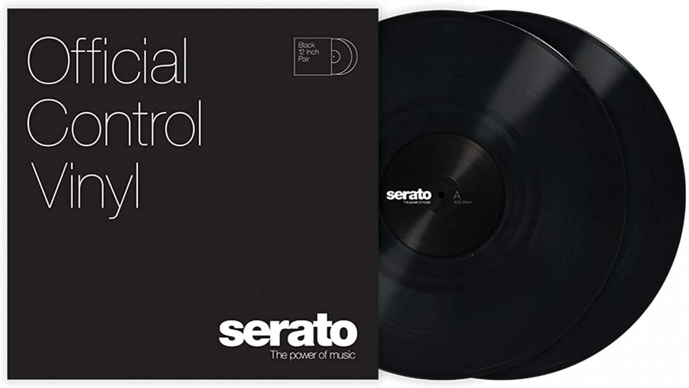 Serato Control Vinyl Black Pair