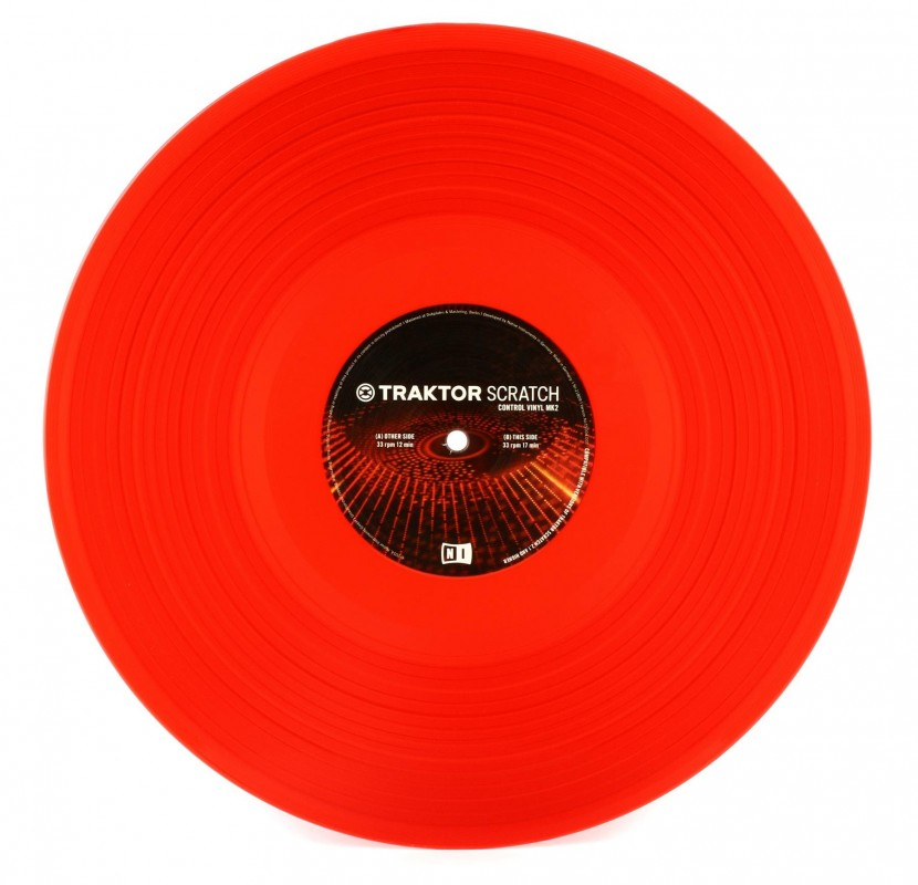 NI Traktor Scratch Pro Control Vinyl Red MKII