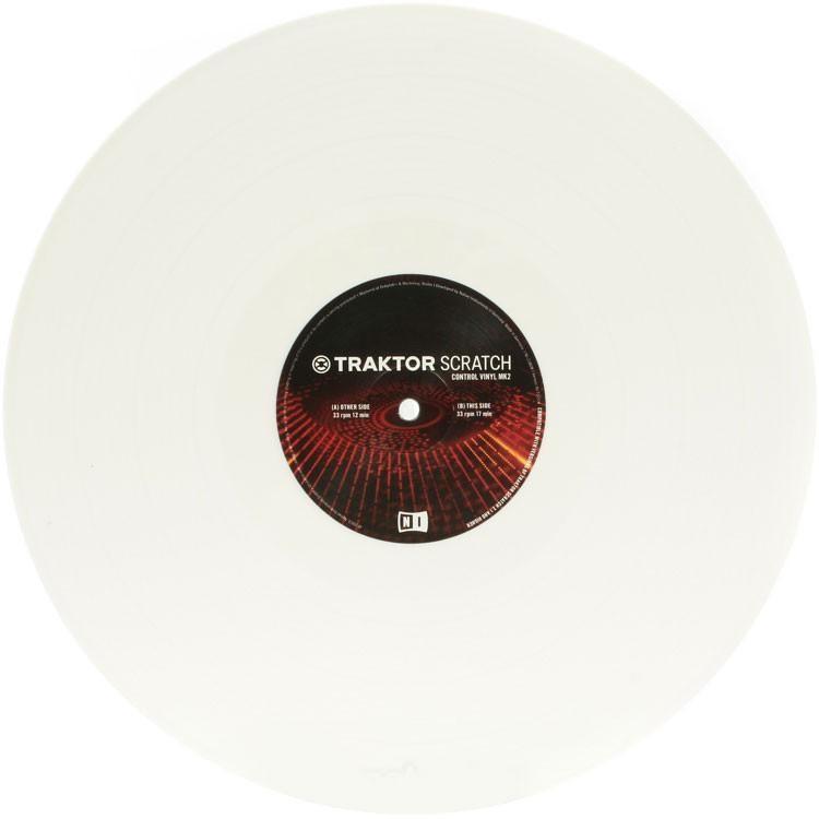 NI Traktor Scratch Pro Control Vinyl White MKII