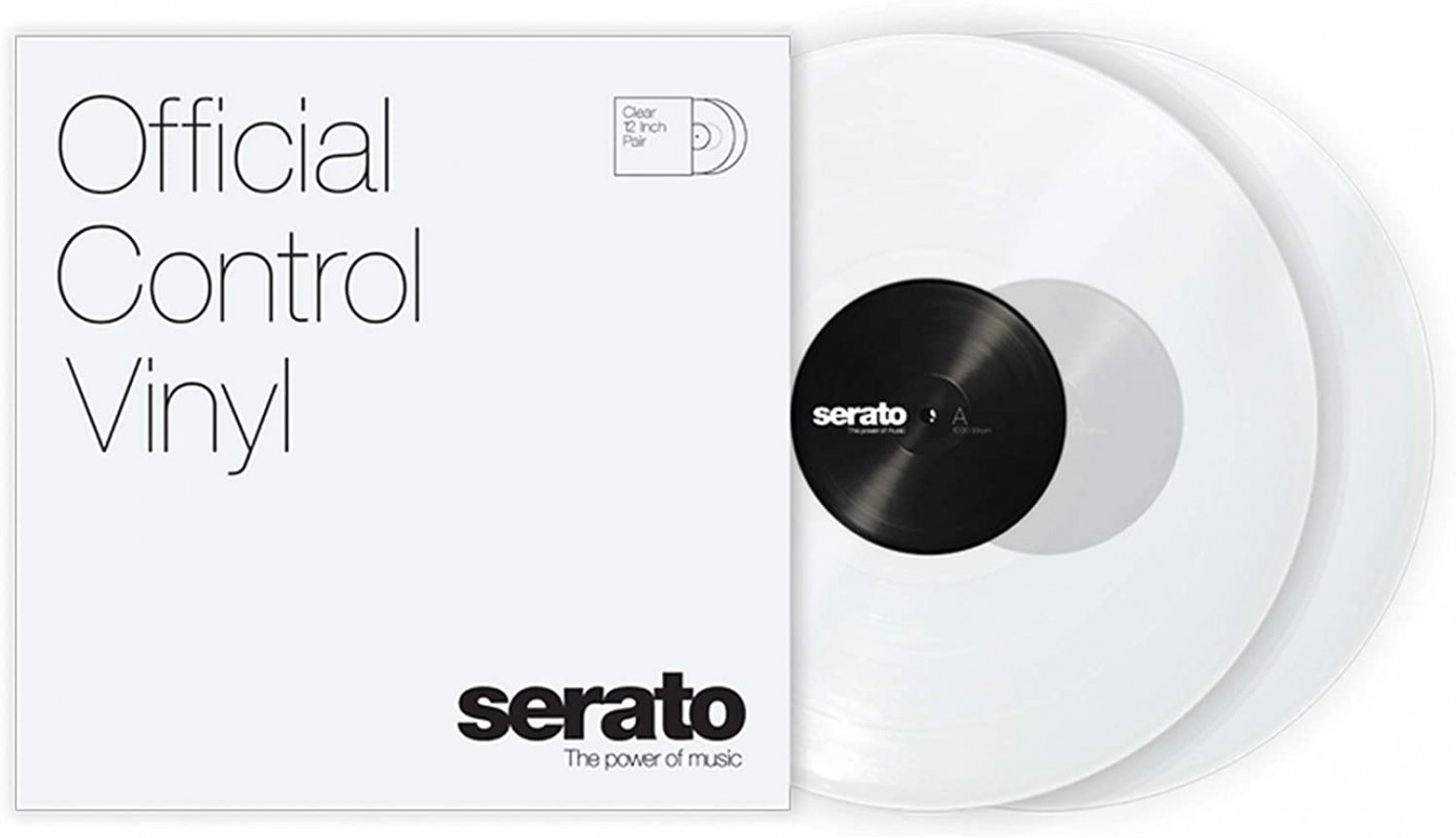 Serato Control Vinyl Clear Pair